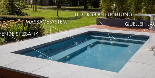 Schwimmbecken-Pool RIVIERA C-Side grau Funktionsschema